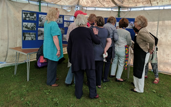Looking at the pop up exhibition at Llandysul Carnifal 2017